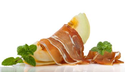 Rezepte mit spanischem Schinken: Pata-Negra-Schinken mit Melone