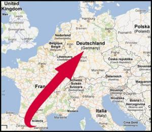 Senden Sie einen Bellota-Hinterschinken nach Deutschland