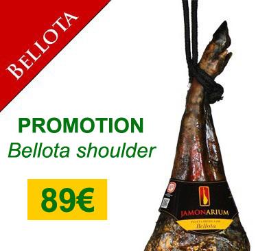 """Angebot 5Kg iberischen Bellota Schinken Schulter, kaufen Sie das beste """"Pata negra"""" 89 €"""