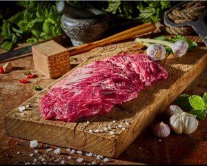 leeres schwarzes Angus-Rindfleisch