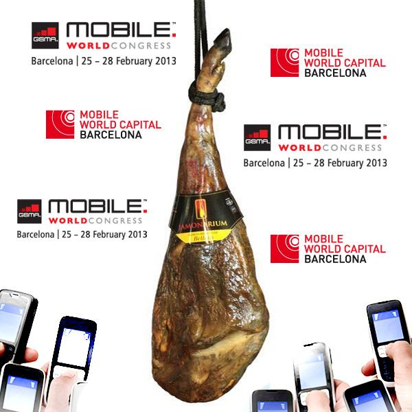 Jetzt ist die Mobile World Congress in Barcelona! Besuchen Sie unseren Shop Schinken!