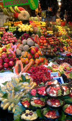 Ein Wahrzeichen in Barcelona zu besuchen: La Boqueria-Markt